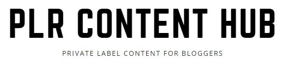 PLR Content Hub Header Logo